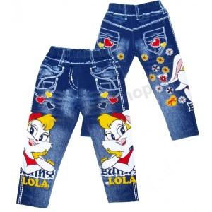 Укороченные детские джинсовые леггинсы (капри) с ярким рисунком