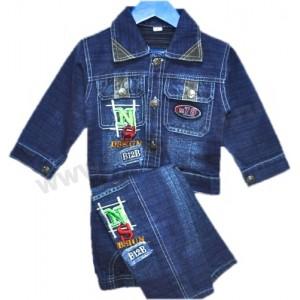 Чтобы увеличить Костюм джинсовый для мальчика, куртка и брюки, NS...